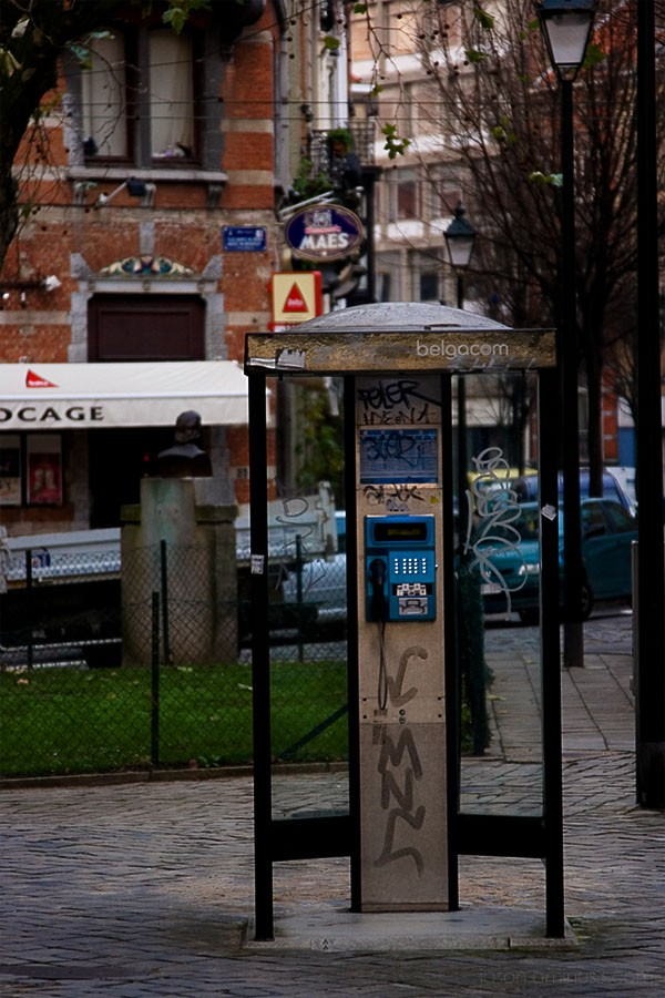 Belgacom phone booth Brussels