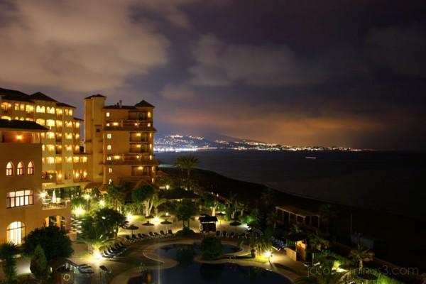 Spain coast at night