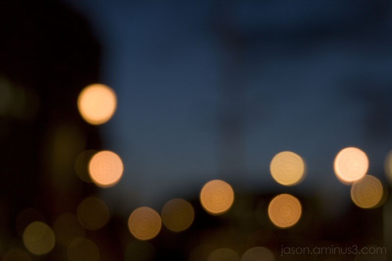 blurred street lights