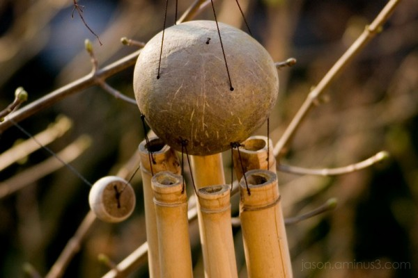 wood wind chimes