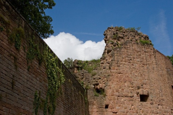 castle wall and sky
