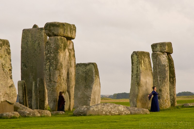 druid at stonehenge