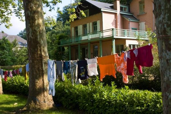 bright clothes line