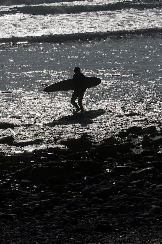 surfer silohuette