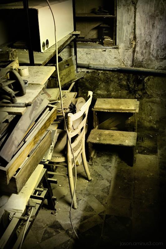 old run down chair