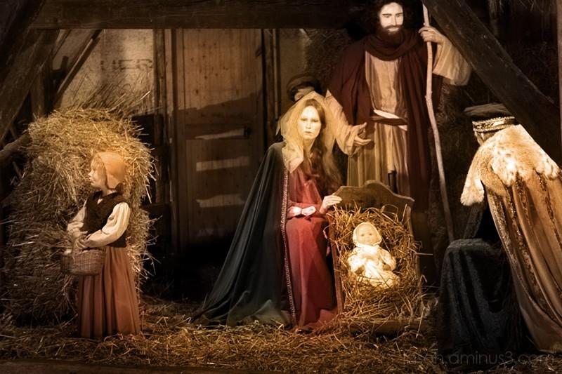 painted nativity