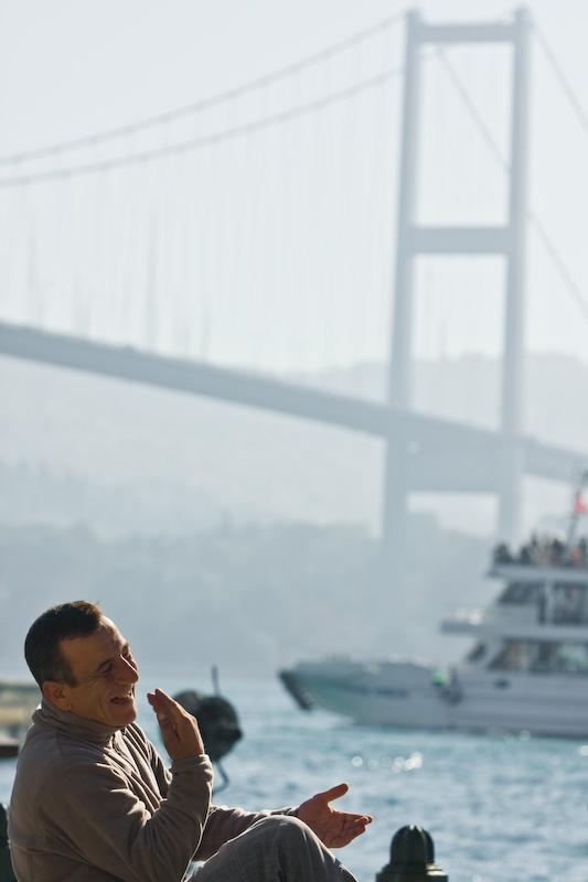 laughing Turkish man