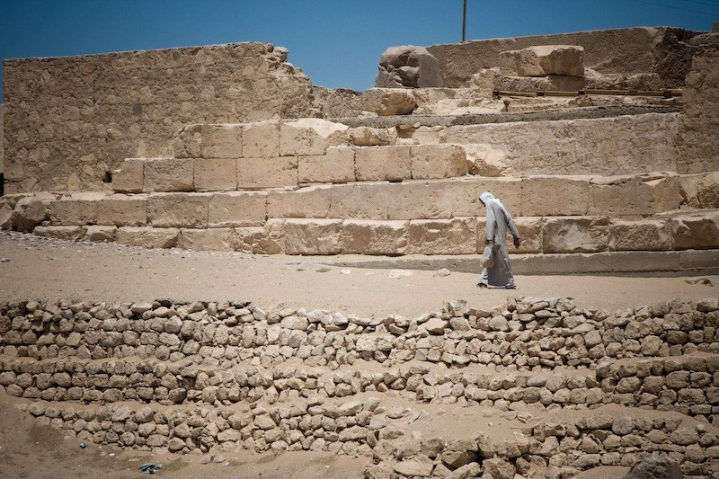 woman at Abydos Temple