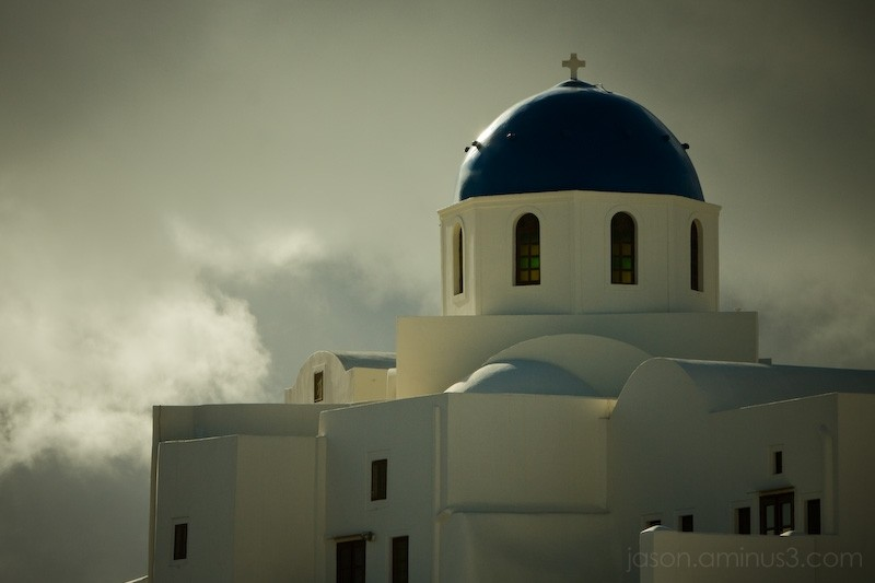 Blue Dome Greek Church
