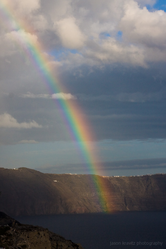 santorini rainbow