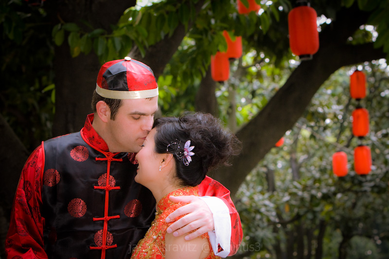 Chinese wedding couple