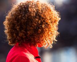 curly hair sun