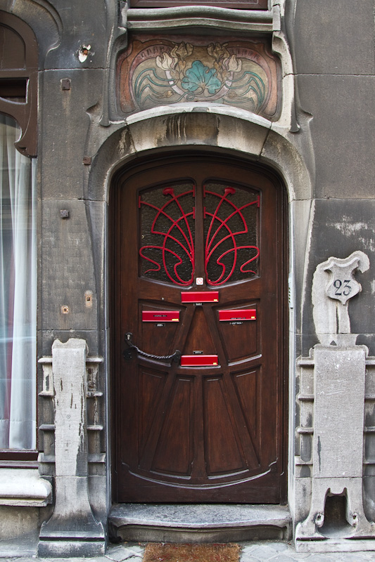 art nouveau door Brussels