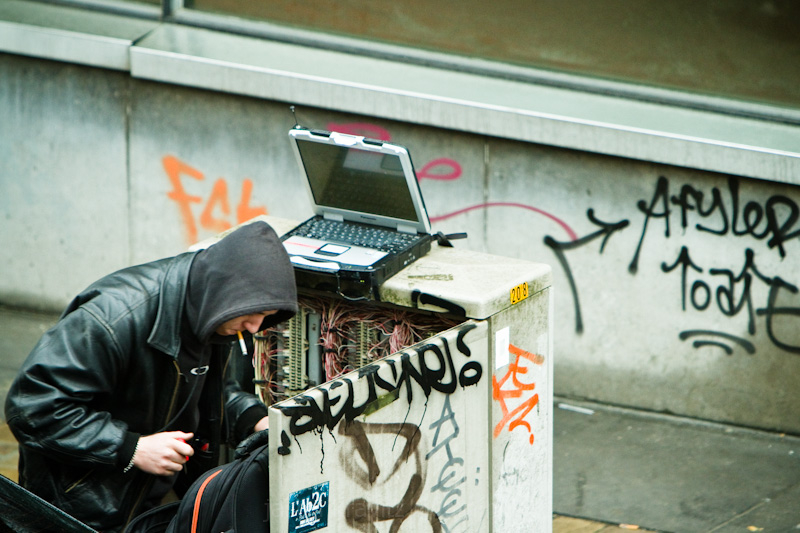 phone box hacker