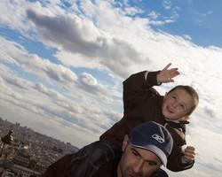 happy boy and dad