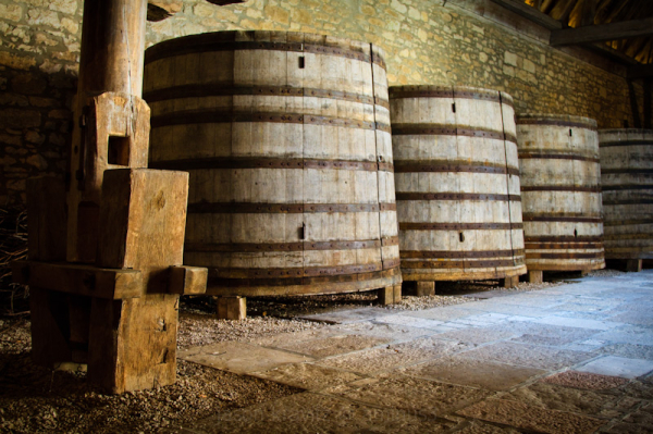 Wine Casks and Press