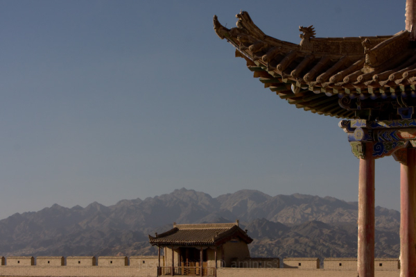 Temple and Mountains