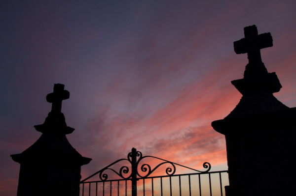 france cemetery sunset