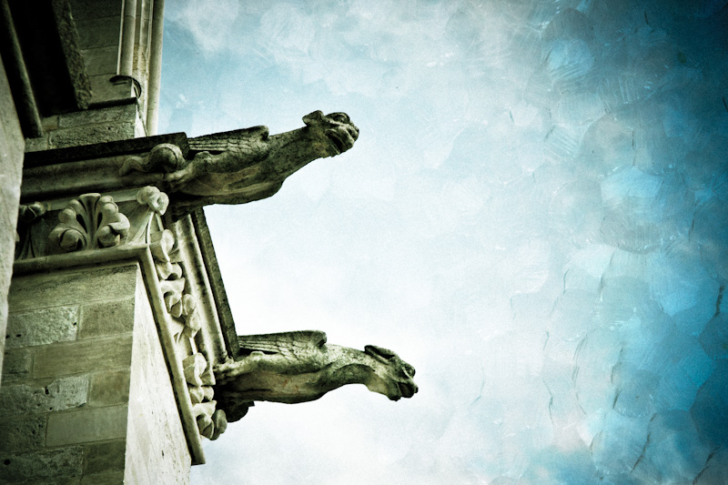 gargoyle at bayeaux cathedral