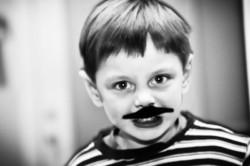 moustache boy