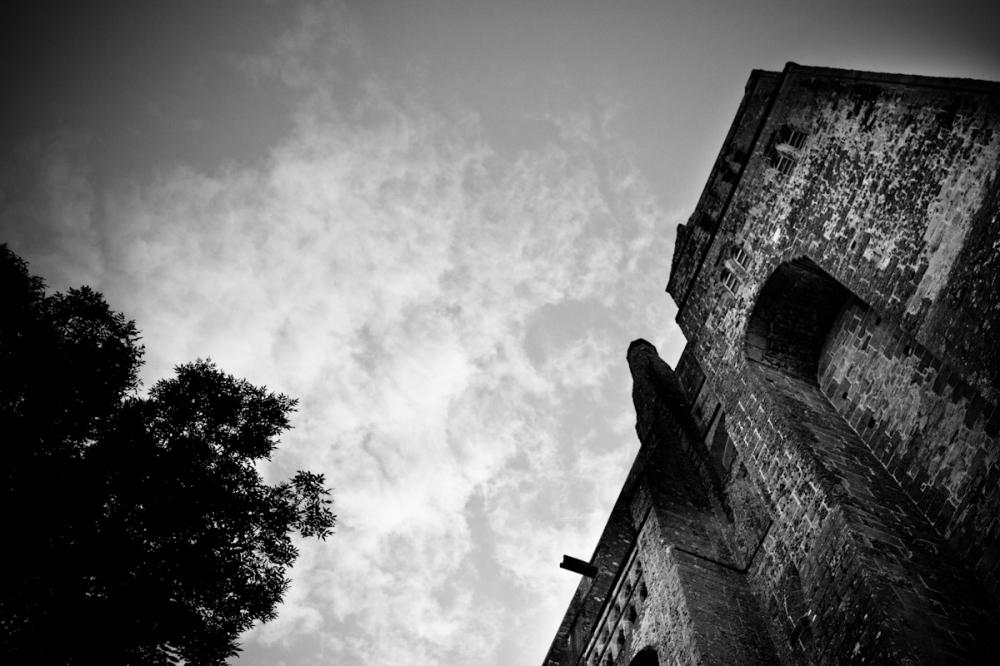 Mont Saint Michel black and white