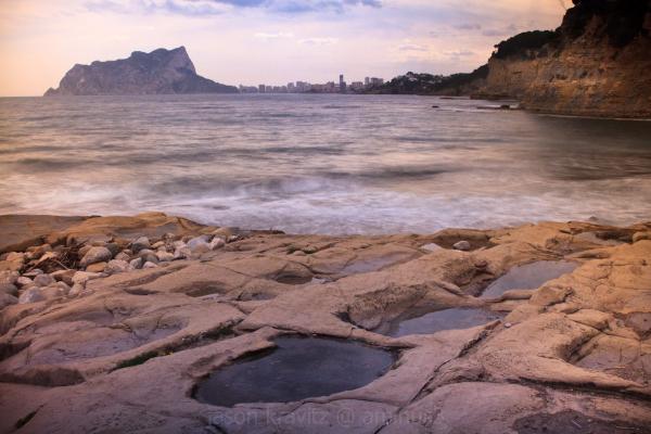 Calpe and sea