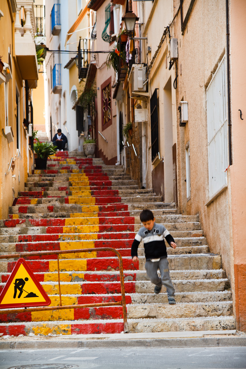 calpe old town steps