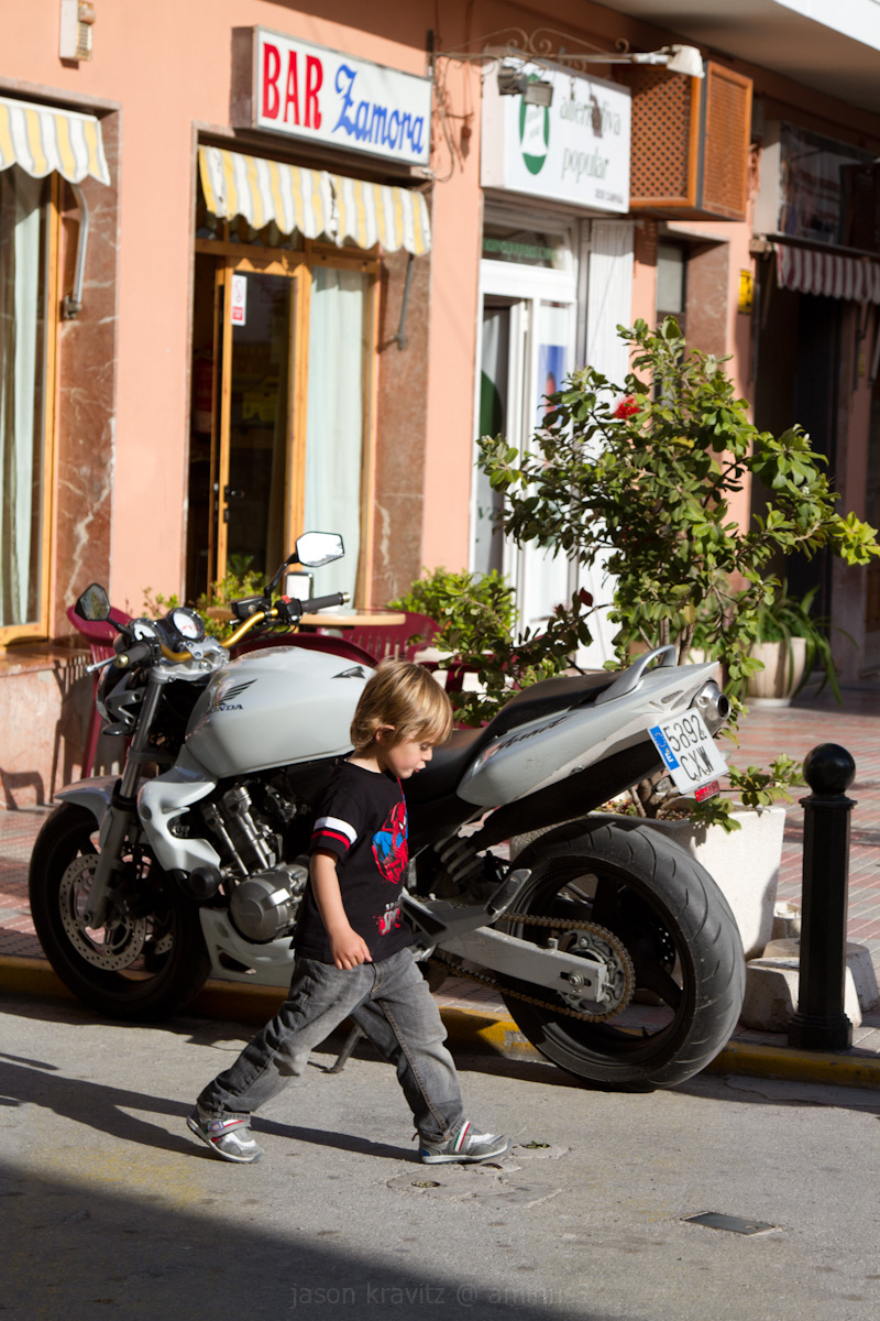 kid and motorcycle