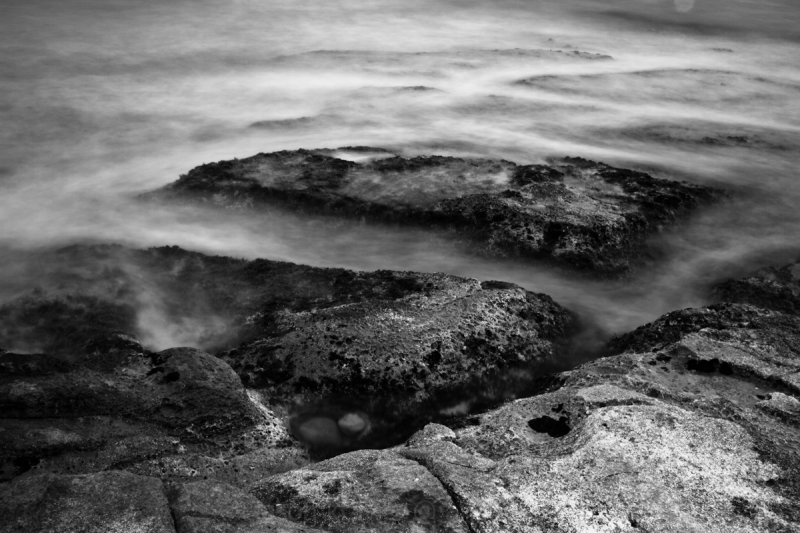 smoky sea long exposure