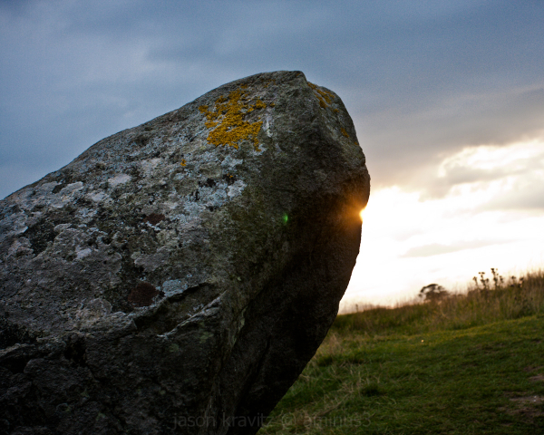 Sun through a Standing Stone