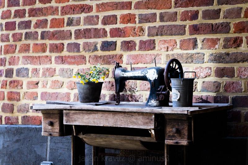 rustic sewing machine