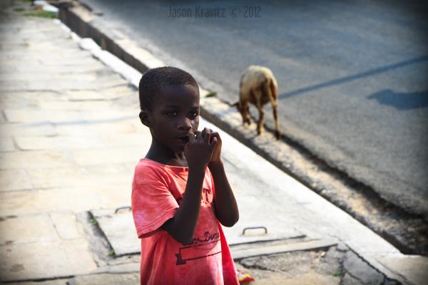 A Boy and a Lamb
