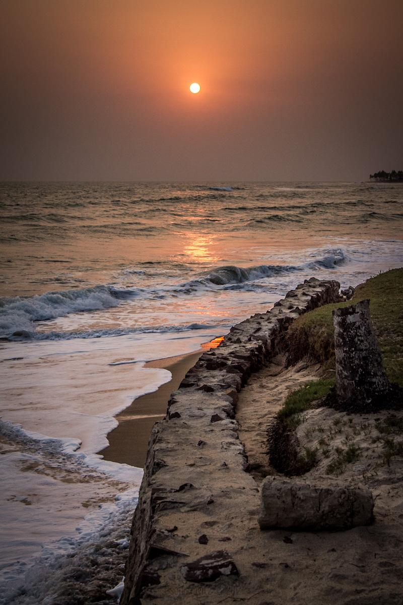 elmina ghana sunset