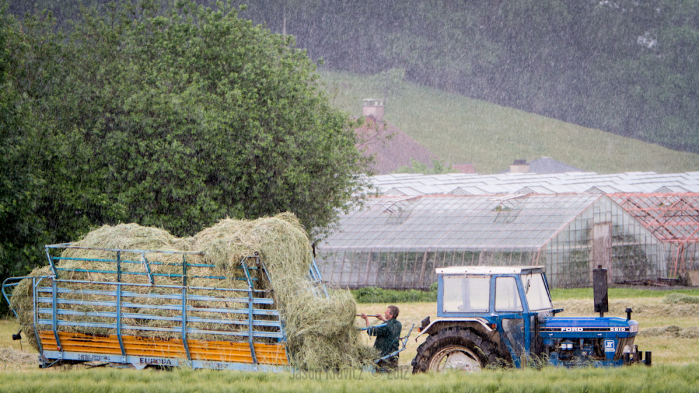 farming in the rain