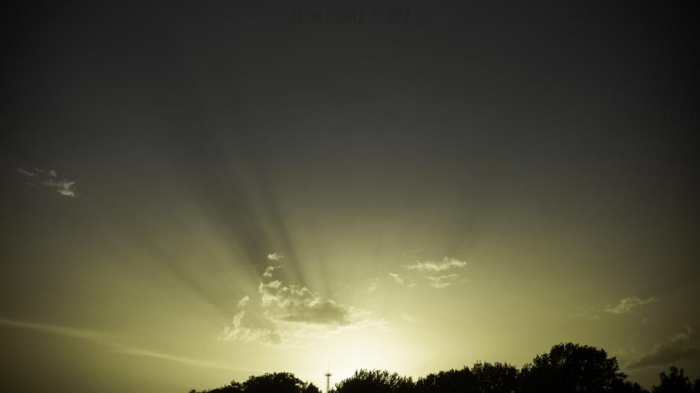dramatic cloudburst