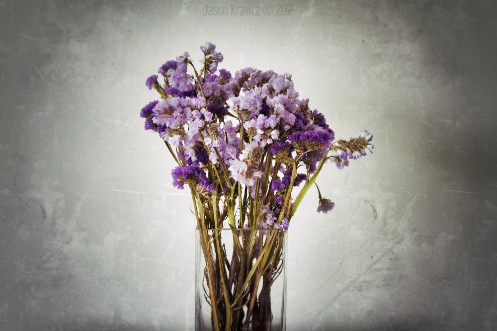 old lavender vase