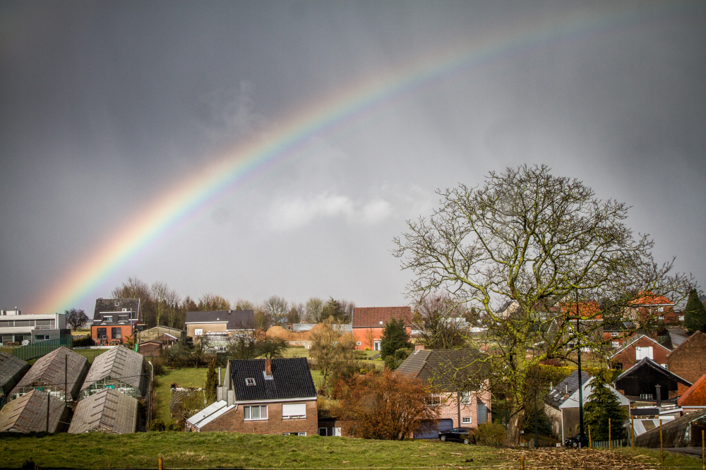 rainbow over Tervuren