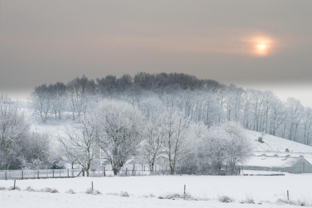 snow rural belgium
