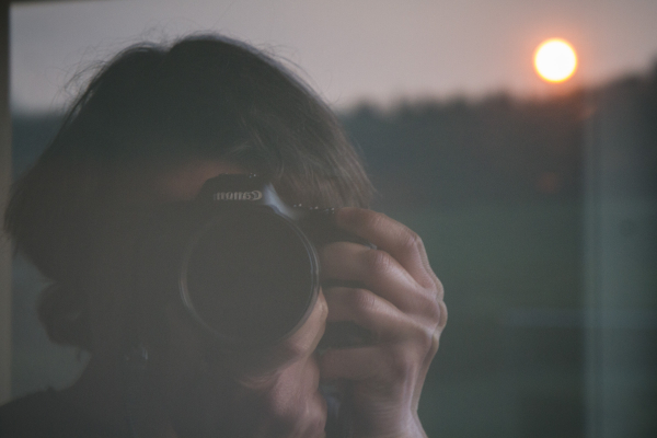 self portrait sunset