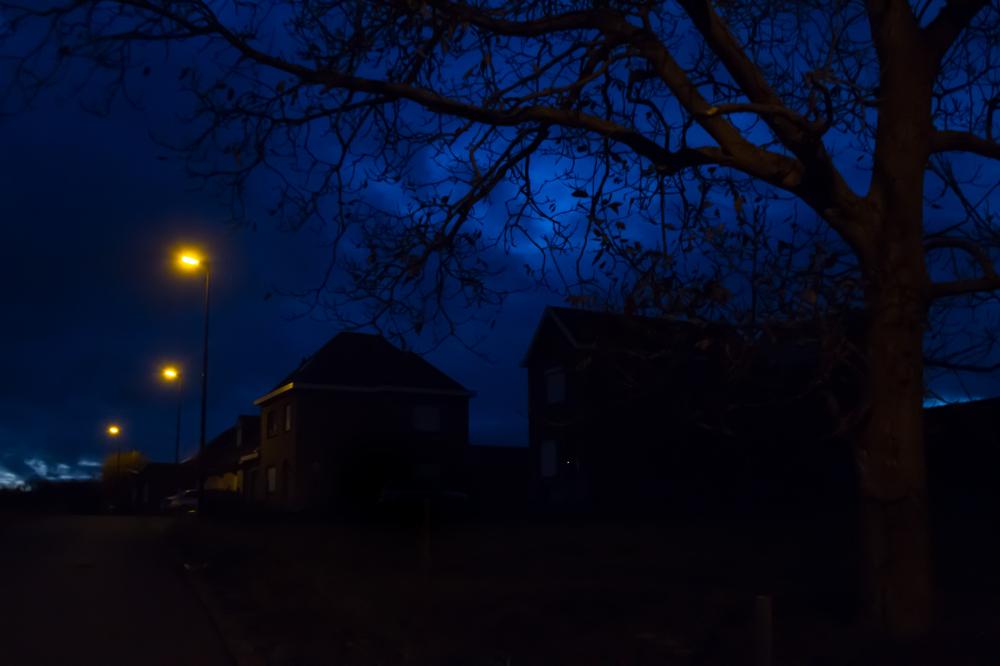 night light blue