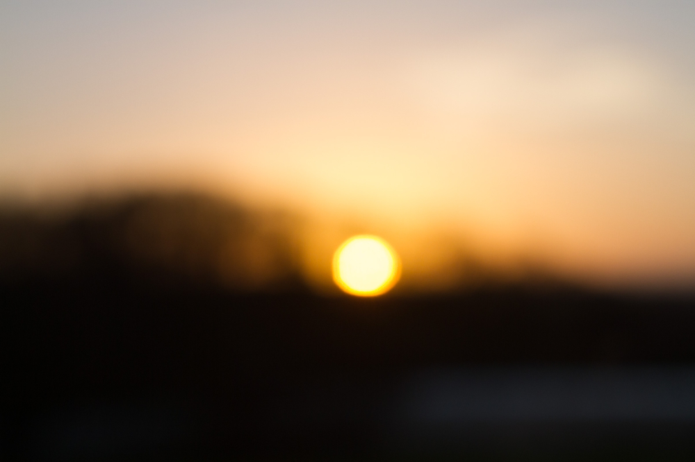 out of focus sunrise