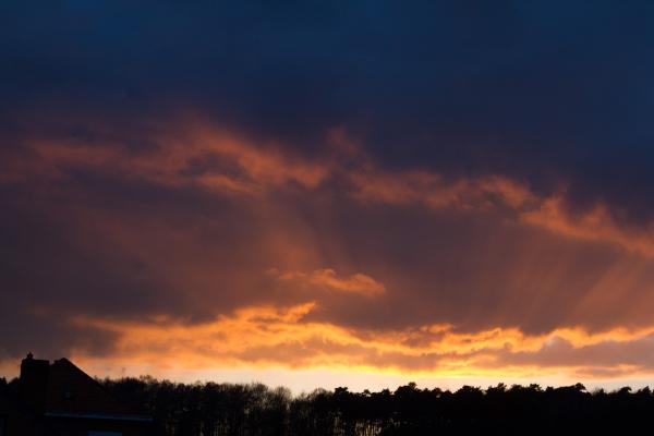 crepiscular sunset