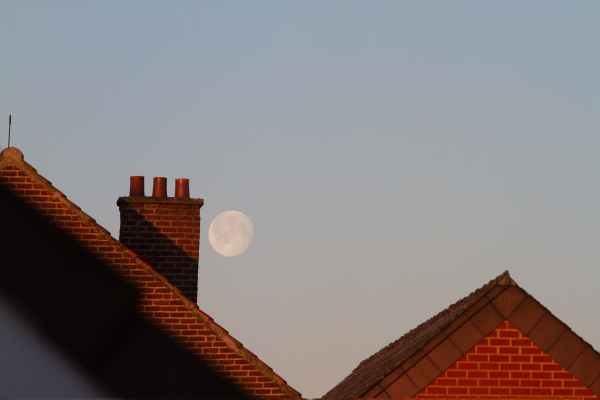 moon and chimney