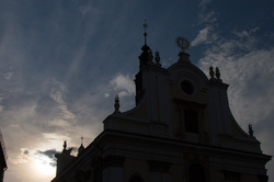 sunset church wroclaw
