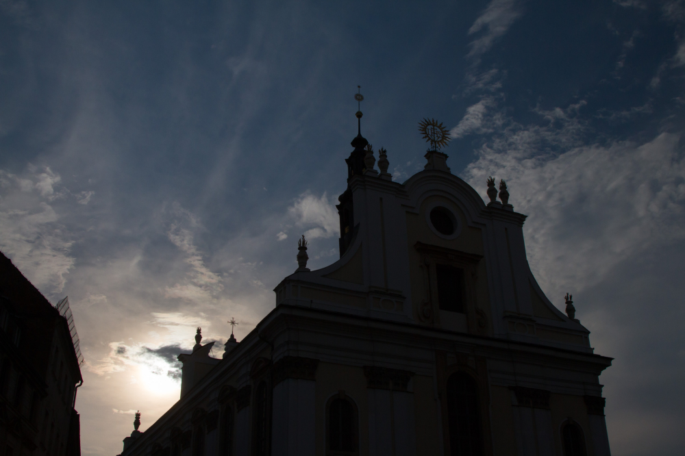 sunset church wroclaw