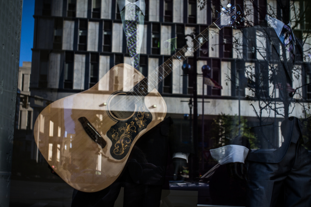 guitar reflection