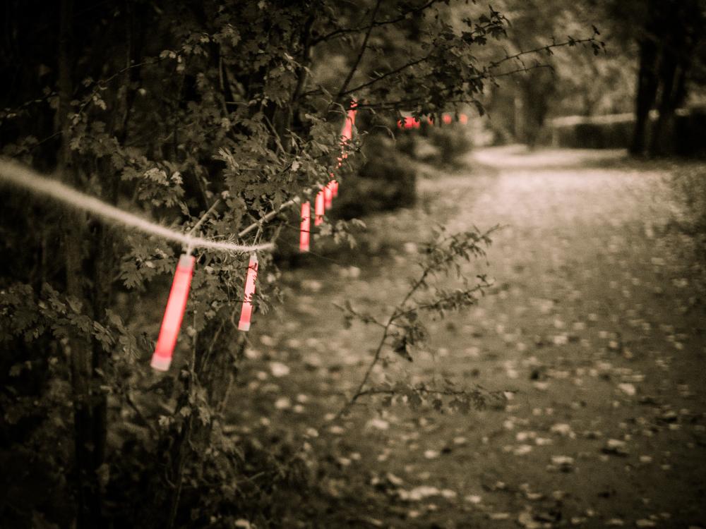 glow stick trail