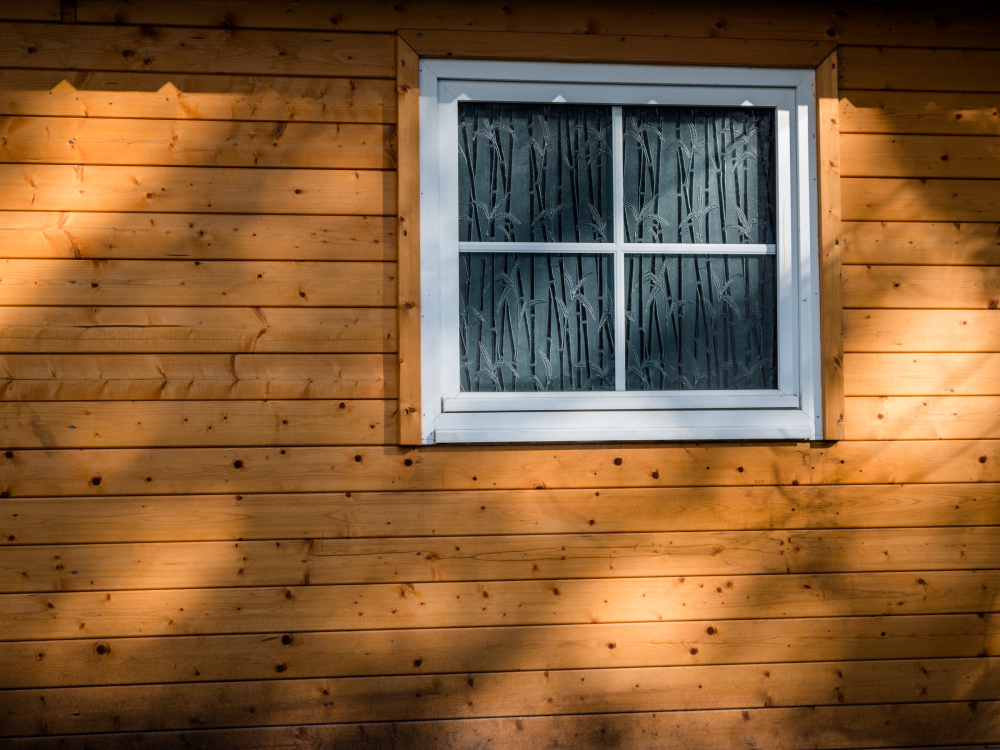 wood wall window