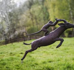 tom frantzen monkey gazelle sculpture