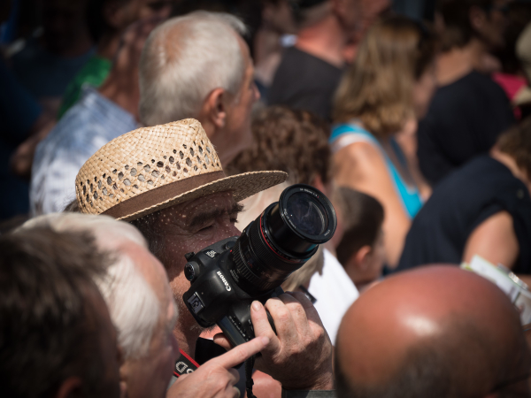 photographing the crowd